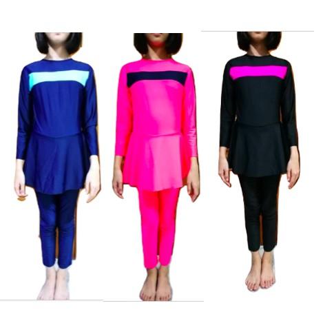 Muslim Arab Kid Swimwear Full Cover Islamic Beachwear (1 pc joint with tudung)