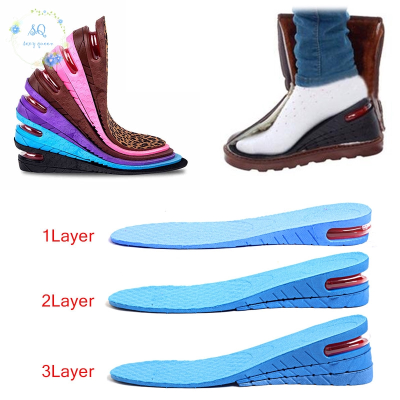 Honeycomb Gel Heel Lifts Height Increase Insoles Shoe Inserts Pads Raise New SPE