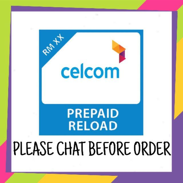 CELCOM XPAX Prepaid Top-up Soft Pin / Direct Reload