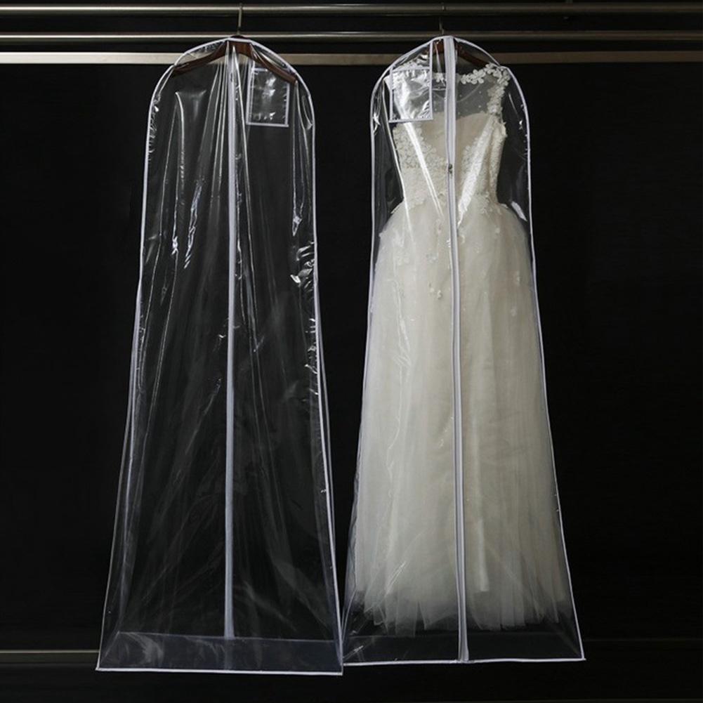 2f4f3d111d35 Clear Wedding Dress Cover Storage Bags Dustproof Large Bridal Gown Garment