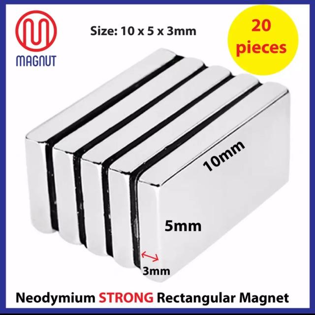 1pc 60mm Long x 10mm Width x 4mm Thick Strong NdFeb Bar Neodymium Block Magnet