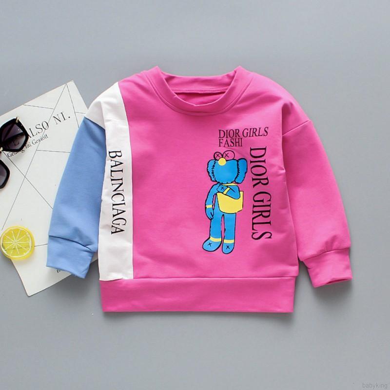 Babyking Kaos T Shirt Anak Laki Laki Perempuan Lengan Panjang Gambar Kartun Untuk Musim Semi Shopee Malaysia