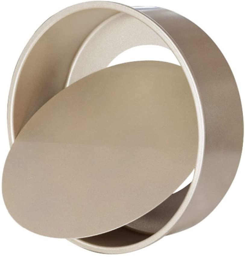 Gold Colour Non Stick Round Cake Tin with Loose Base/ Deep Round Cake Pan