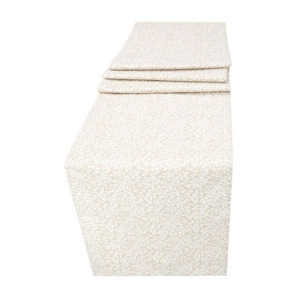 Cottage Yarn Seed Coated Rectangle Table Runner/Dresser Scarf. Anti Stain/Waterproof/Spill Proof  Easy Care. Multi-Size (Ecru)