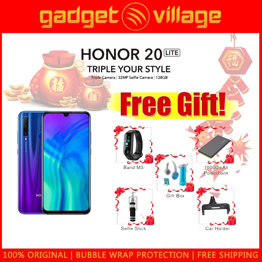 Honor 20 Lite 128gb/4gb - Official Honor Malaysia Warranty