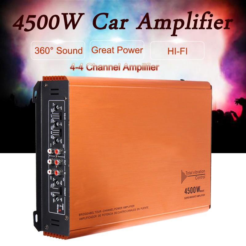 ❤❤KY-808 4500W 4 Channel Amplifier Car Audio Power DJ HiFi Stereo Aluminum  Am