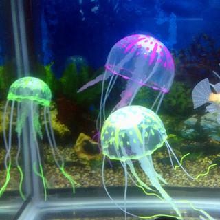 Artificial Glowing Fish Tank Decoration Aquarium Jellyfish Ornament Decor Qmtl