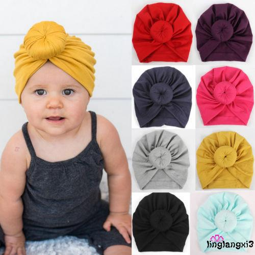 3194e1f8c M.A-Toddler Infant Baby Kids Cotton Turban Knot Bunny Ear Hat Head ...