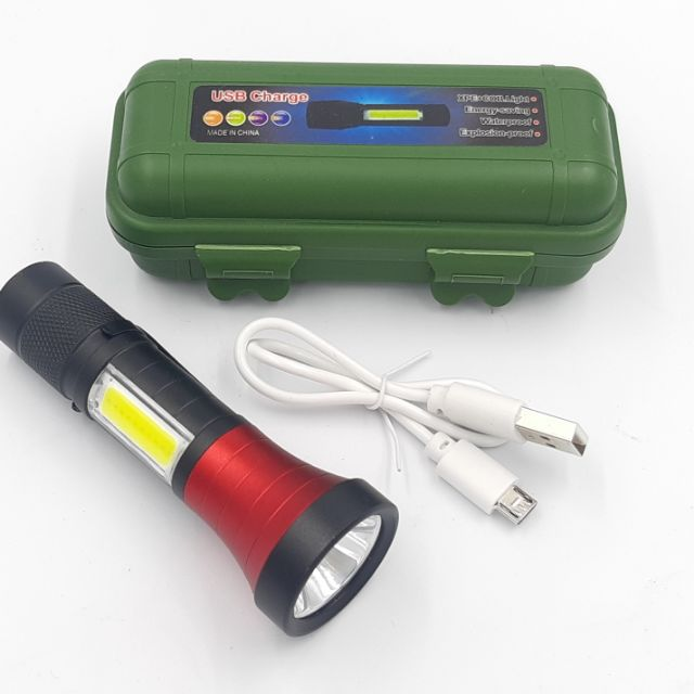 3 Mode USB Rechargeable High Power Mini LED Torchlight Torch light.
