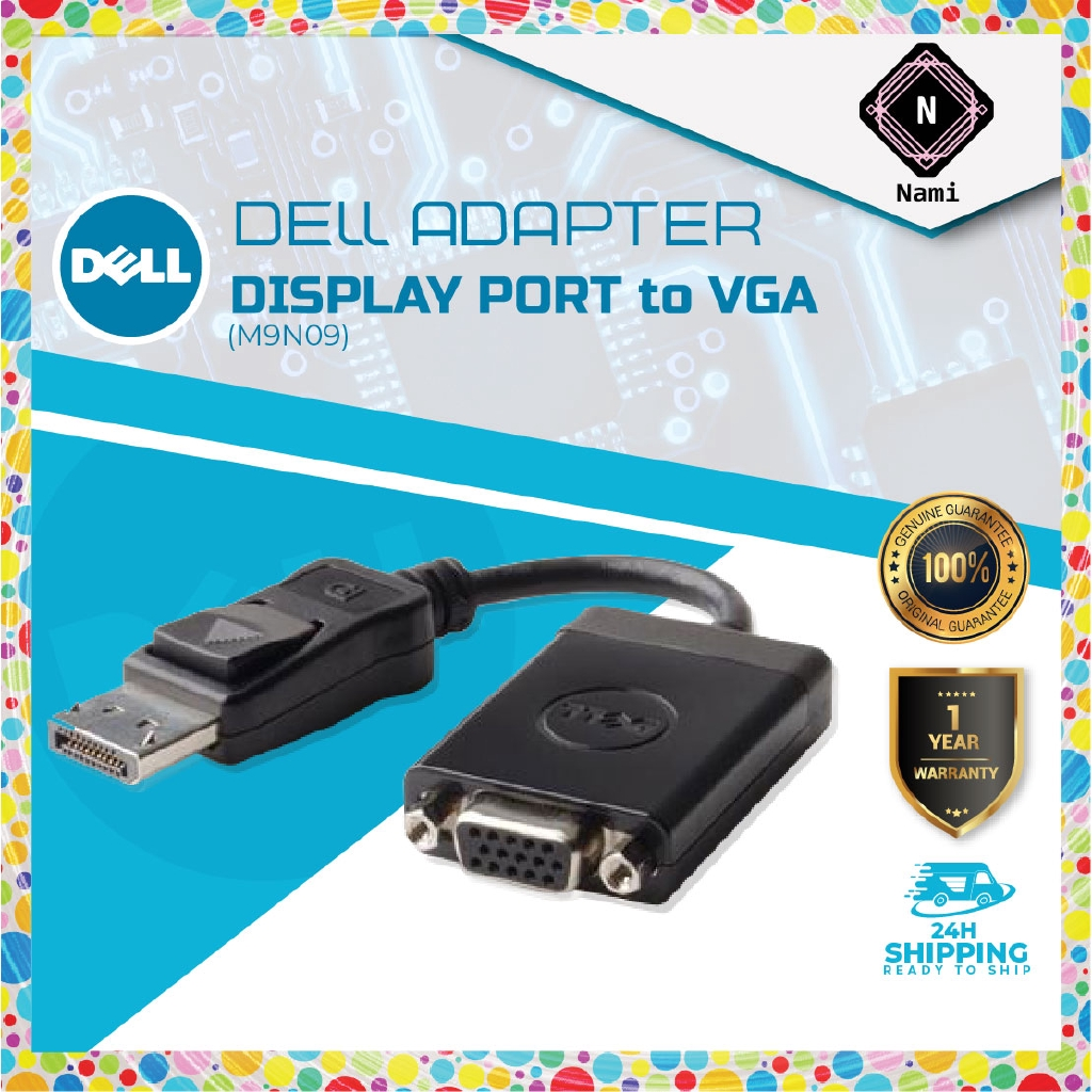 Original Dell DP Display Port to VGA Video Cable Converter Adapter M9N09