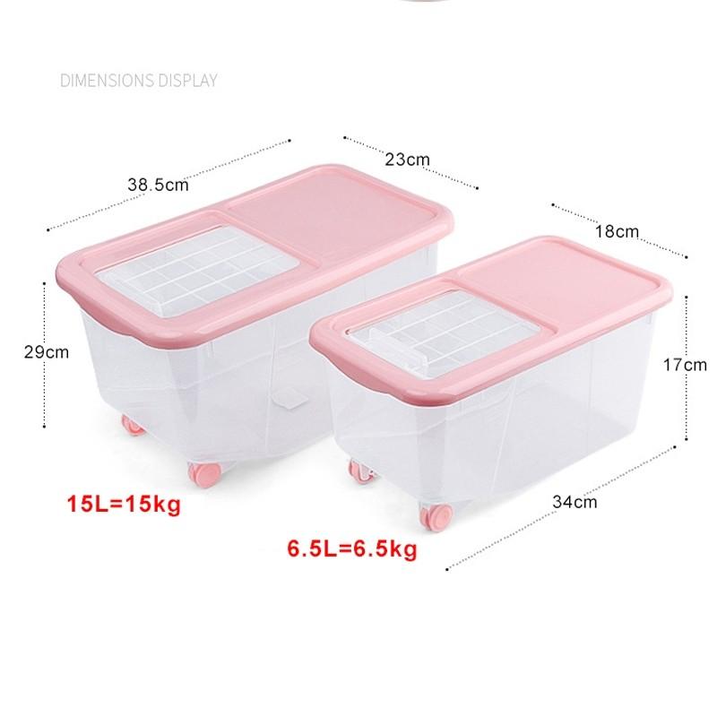 6.5L Rice Dispenser Storage Container Box Kitchen Organizer Dry Grain Food