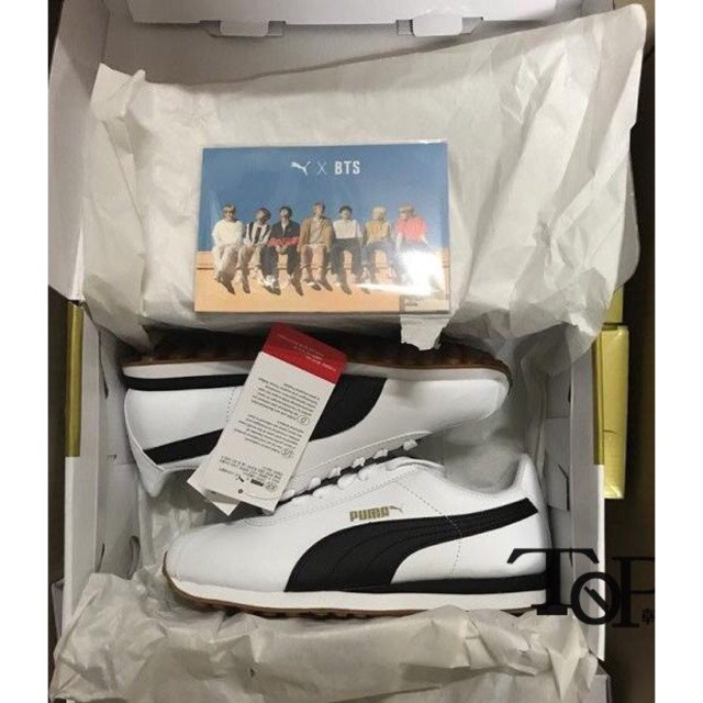 a407b246097563 2018 new arrival original PUMA TURIN X BTS white shoes Korea Exclusive  Sneakers