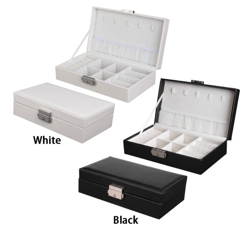 Jewelry Accessories Box PU Leather Travel Jewellery Storage Organizer