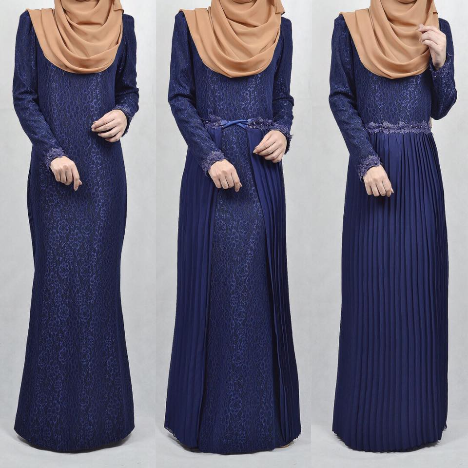 4c38e344a8 Jubah Denim Andra Dress with friendly Breastfeed For Muslimah (Dark Blue)