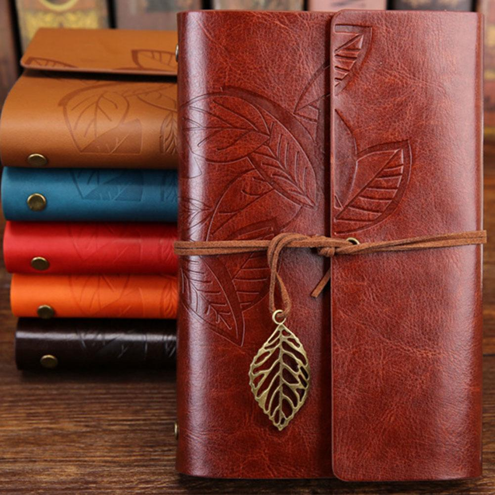 Daily Notepad Loose Leaf PU Leather Diary Book Embossed
