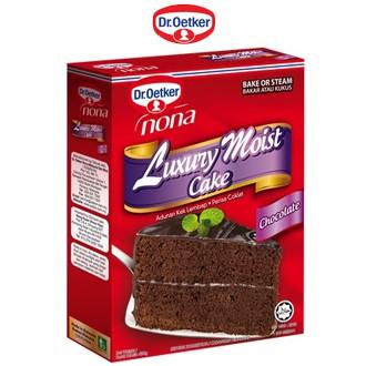 Dr. Oetker Nona Luxury Moist cake -Dark Chocolate / Double Choc / Chocolate / Pandan 580g / Brownies Dark Choc 520g