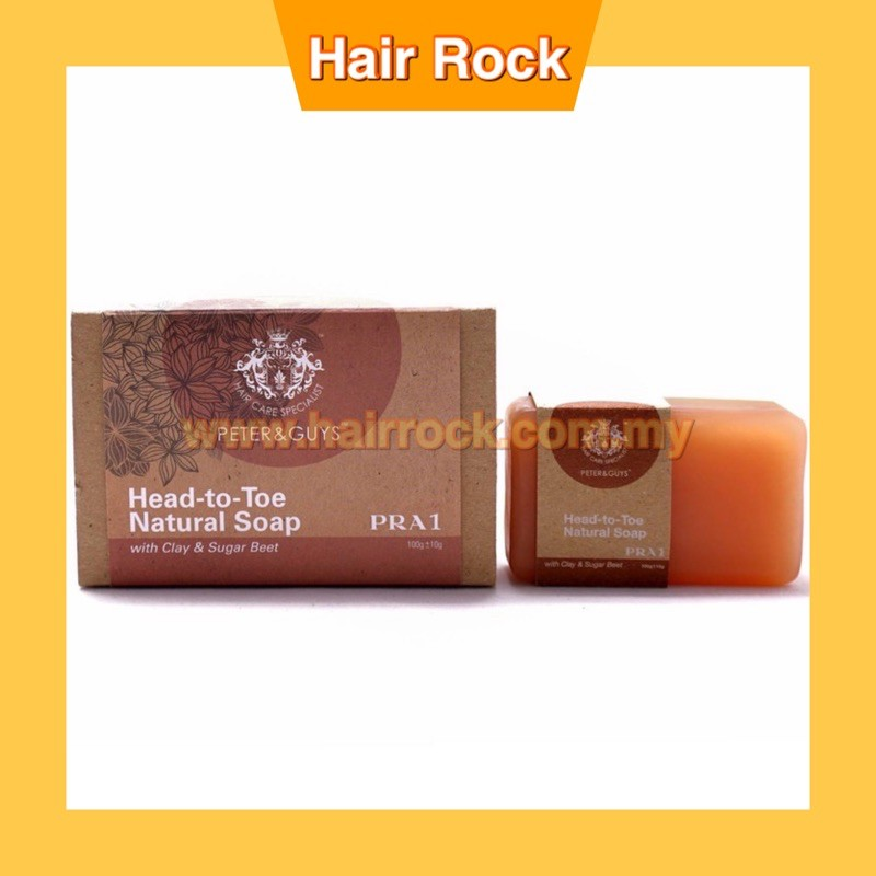 Peter & Guys Head-to-Toe Natural Soap with Clay & Sugar Beet (PRA1) 100gm