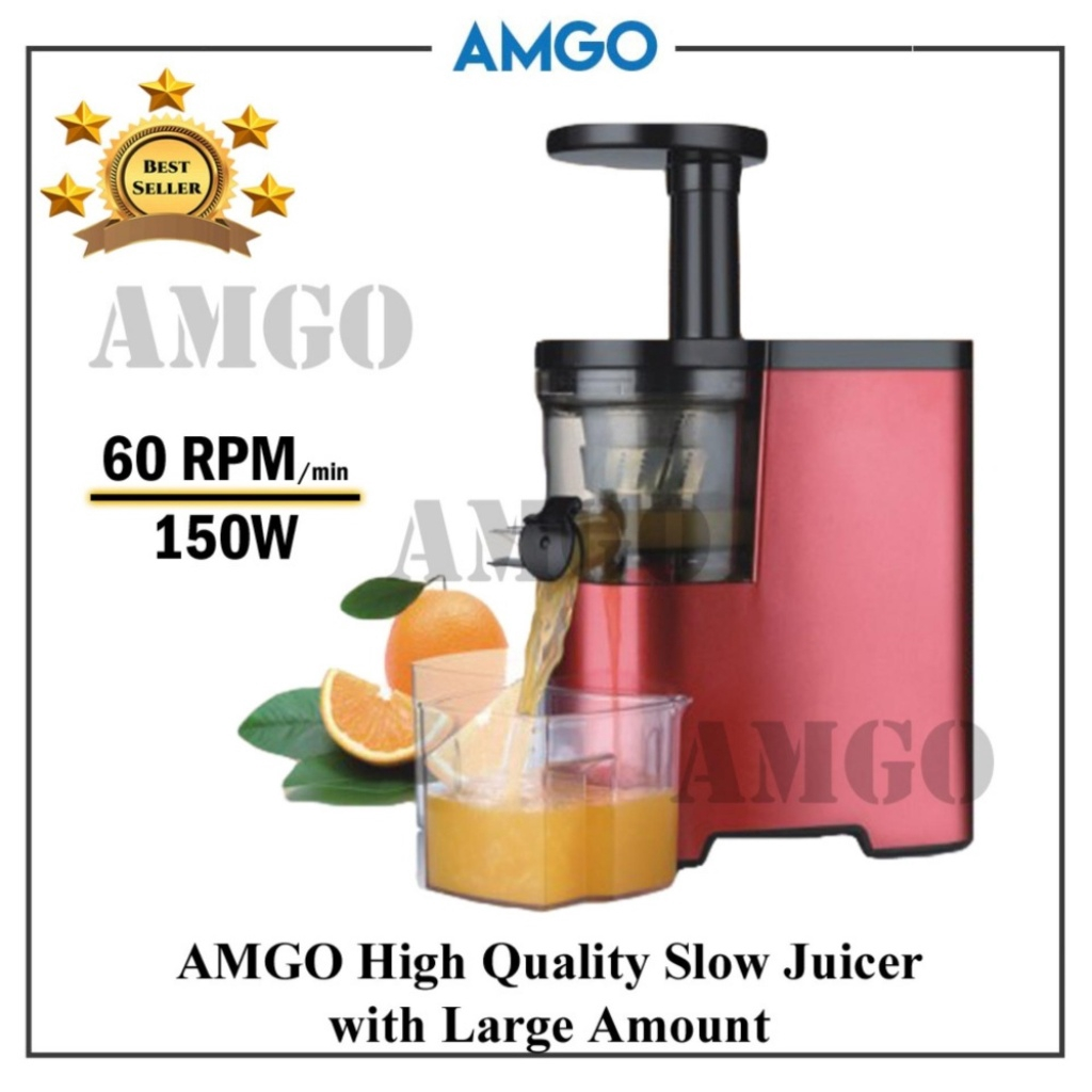 AMGO Slow Juicer 100% Fruit Juice Extraction /Juice Maker / Juicer Blender  / Juice Extractor PrimadaMGO Slow Juicer 100%