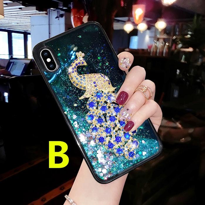 Flashing crystal Case with Lanyard VIVO Y91 Y95 Y71 Y81 Y69 Y55 Y53