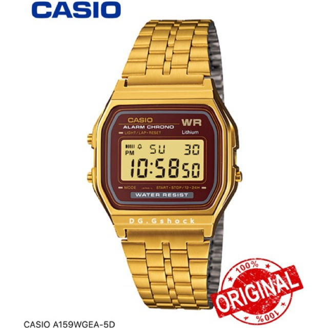 9d8972282 CASIO A159WAD-1D DIGITAL WATCH NATURAL DIAMONDS [ORIGINAL] | Shopee Malaysia