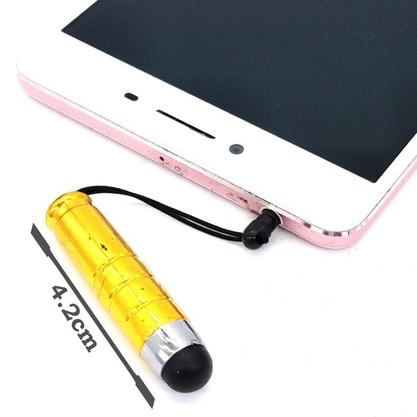 Cute Fashionable Mini Capacitive Stylus Touch Pen with anti slip grip