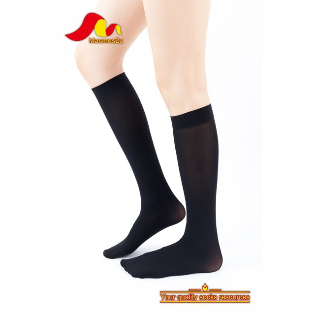 AURAT KNEE HIGH SOCKS 100D BEIGE / BLACK
