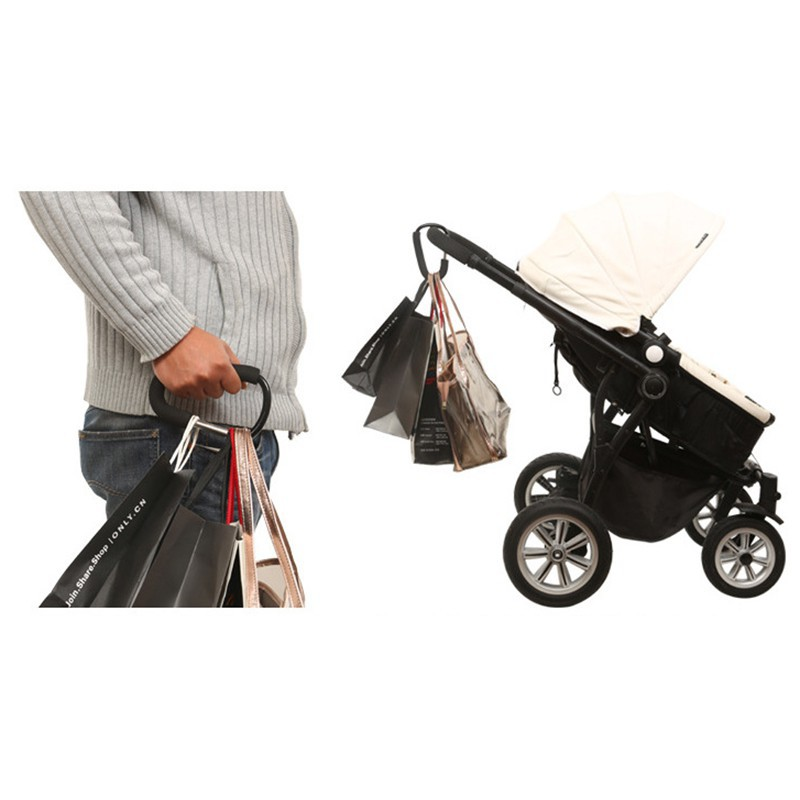 Rotatable Stroller Hooks Pushchair Accessories Shopping Bag Clip