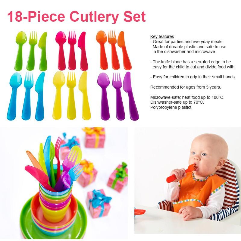 IKEA Kids Adult Cutlery Plate Bowl Mug Part Set BPA Free