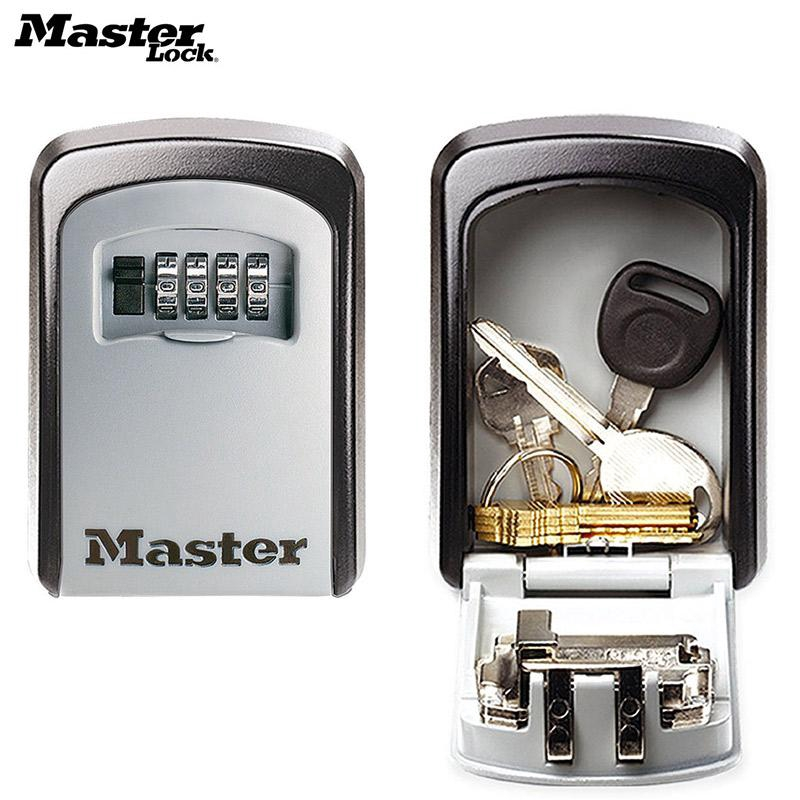 Master Lock Key Safe Box Outdoor Wall Mount Combination Password Lock  Hidden Key