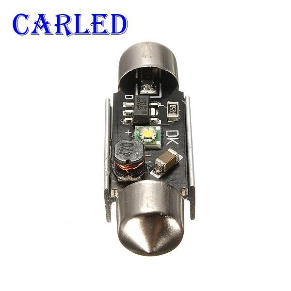 CARLED 36/39 mm Can Bus 5 Watts of Pure White Dome License Plate Led Lights  Bulb