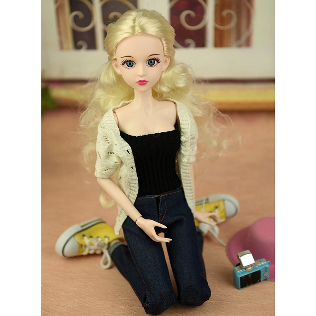 1//4 BJD Nude XINYI Doll 3D Real Eyes 46cm Original Doll body Double Knee Joint