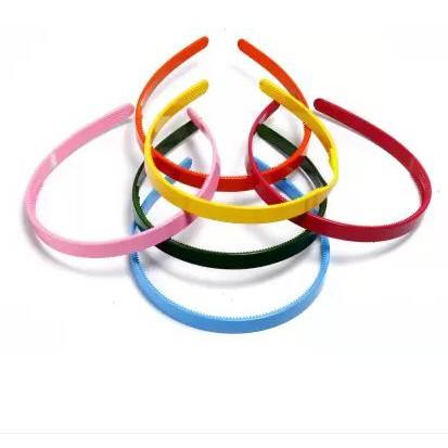 Plastic Hairbands Ladies Girls Kids Simple Style Hair Hoops Teeth Candy Colour Black Colour