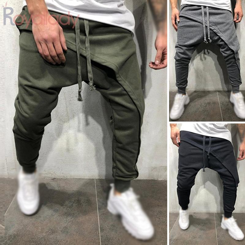 SportsX Mens Hip Hop Style Elastic Bottom Oversize Harem Casual Pants