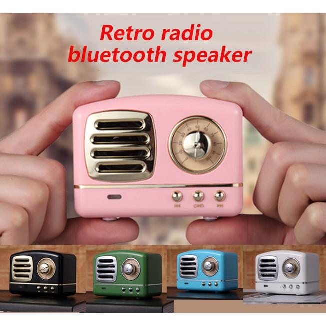 portable Retro radio Bluetooth Speaker Mini cute usb charging wireless  Speaker