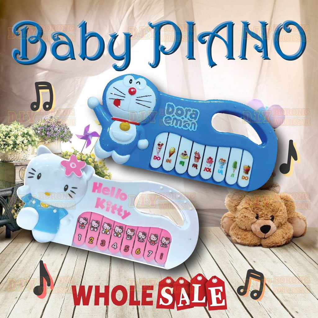 Cartoon Baby Piano With Music Nursery Musical Toys For 3+