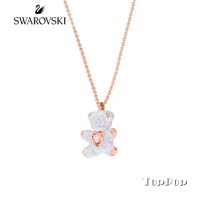Swarovski necklace Teddy Bear shocking heart pendant gift for girls