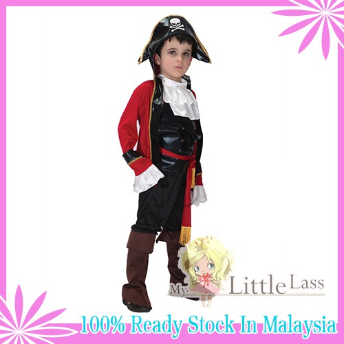 Cosplay Valiant Pirate!!Little Boy´s Party Costume Royal Pirate 4-8y