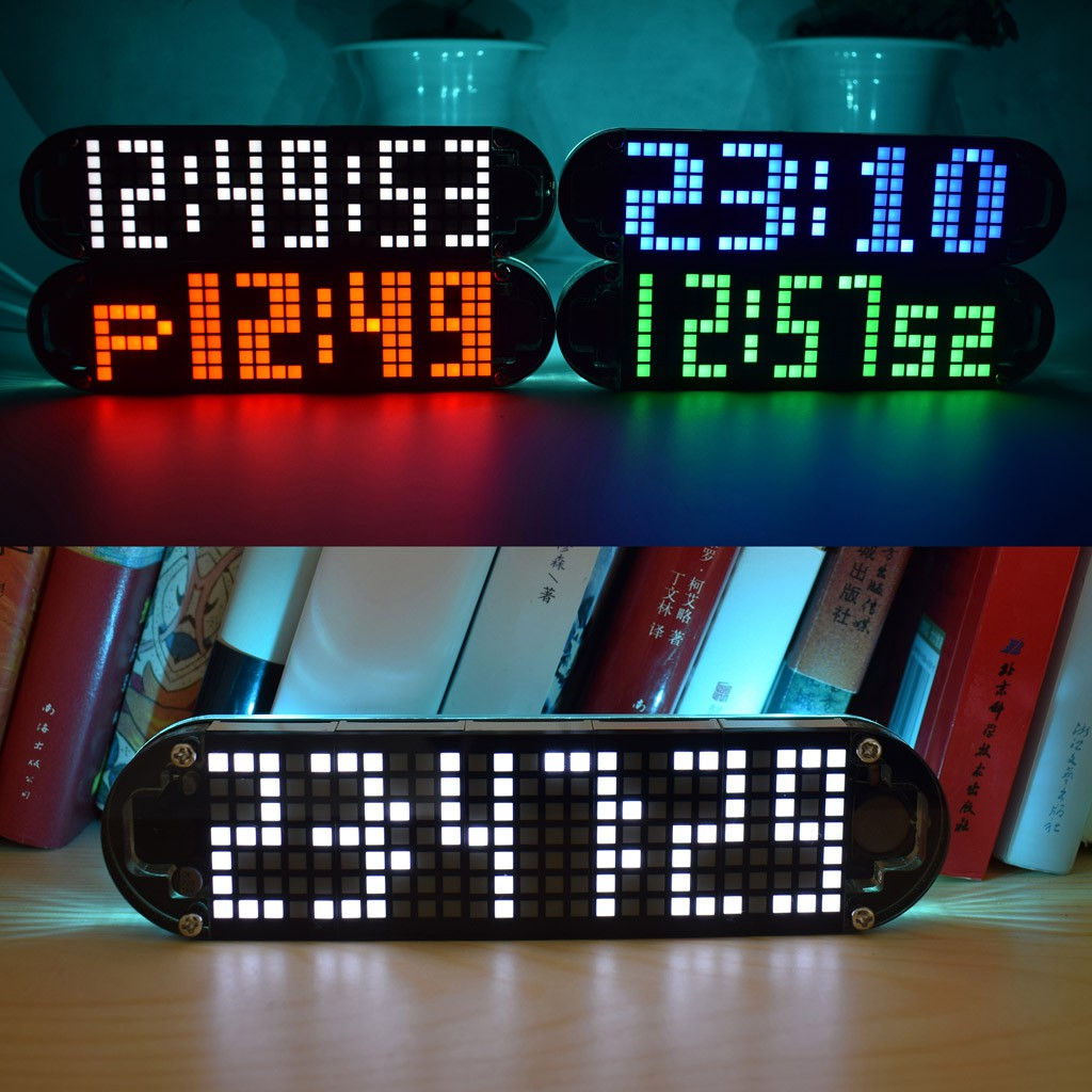 Ds3231 Multifunction Alarm Clock Led Dot Matrix Animation Effects Shaking Electronic Dice Kit Is A Microprocessor Controlled Circuit Diy Gifts Shopee Malaysia