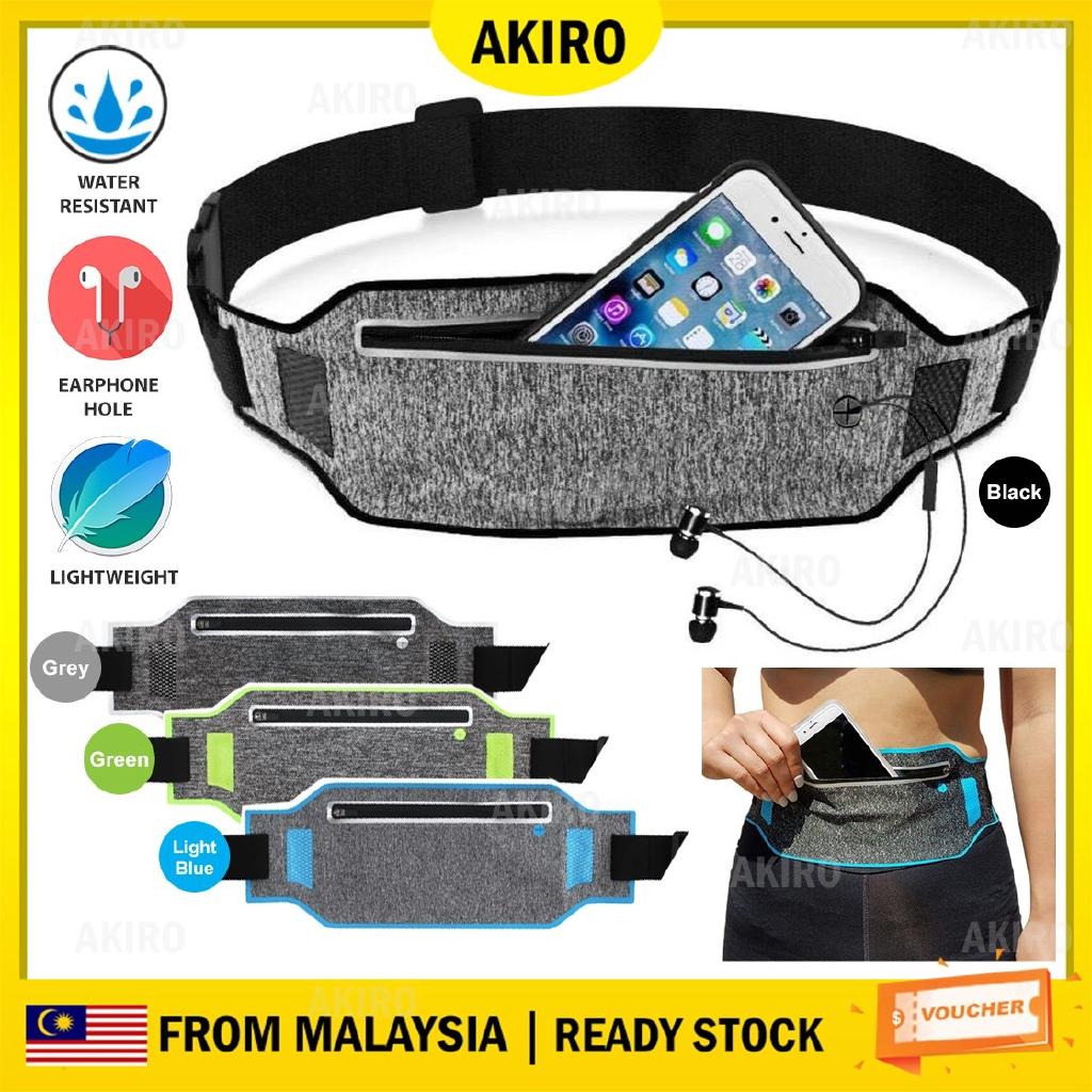 Waist Bag Waist Package Sports Lightweight Waterproof Outdoor Hiking Riding Pocket Fashion Casual Running Fitness Travel Bag Convenient Headphone Hole Design