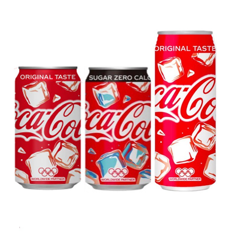 Coca Cola Japan Summer Ice 3 Cans Set 350ml & 500ml
