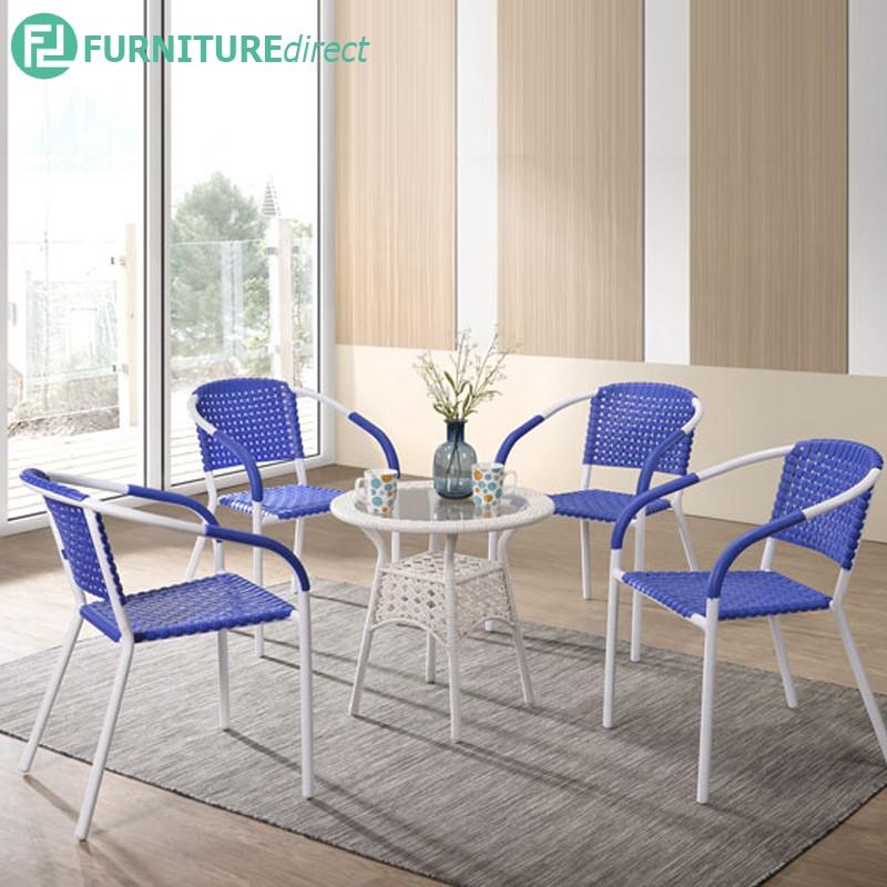 Furniture Direct RONEY 4 seater outdoor garden set-Blue