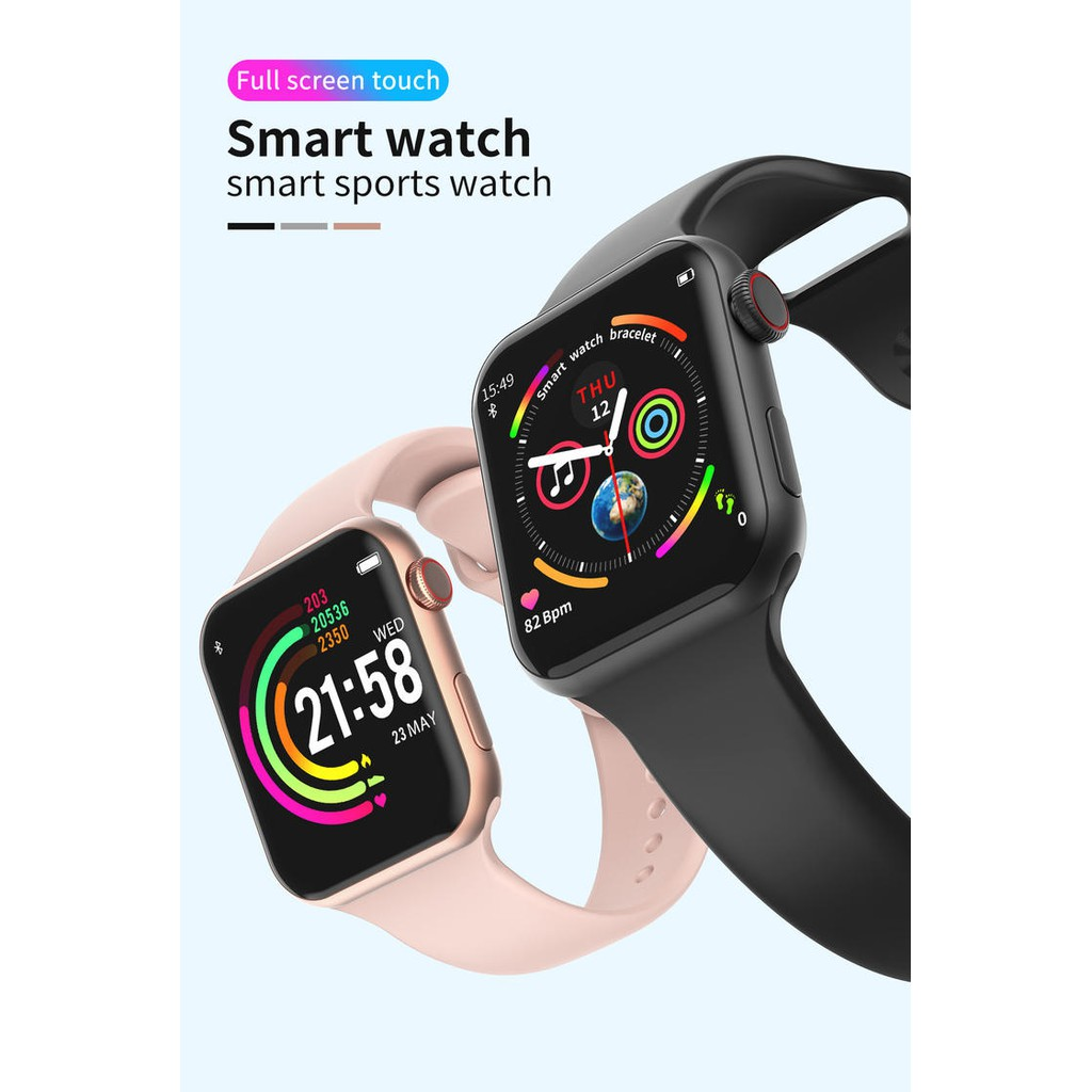 [New] Full-screen Touch F10 Smart Bracelet / Smartwatch/ Waterproof 1.54 inch Heart Rate Blood Pressure Monitor  智能手表