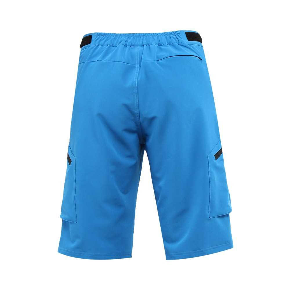 ARSUXEO Men's Baggy Cycling Shorts Bike Bicycle Shorts Sports Pants (blue)