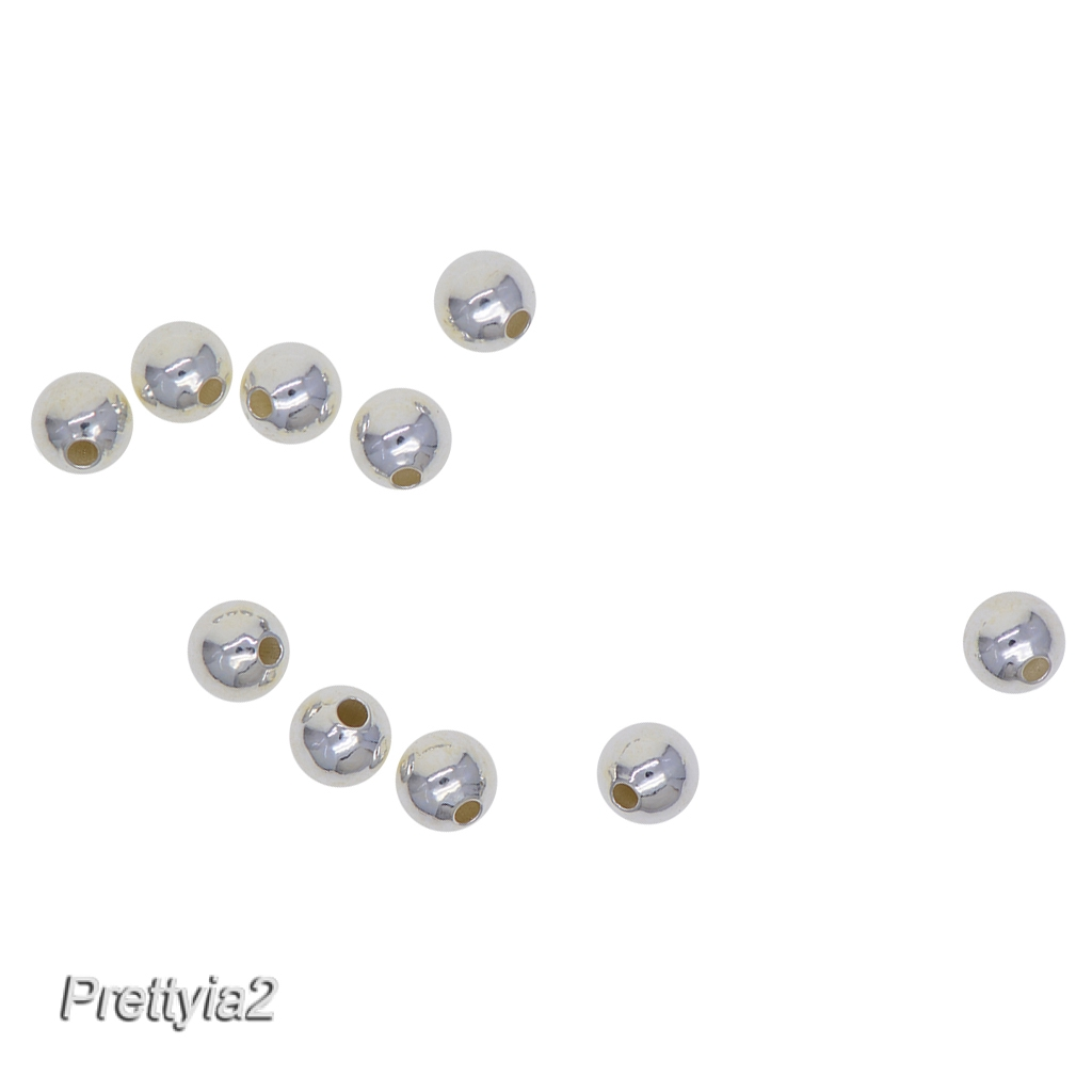 Sold Per 10 Pieces Sterling Silver 4mm Smooth Round Beads