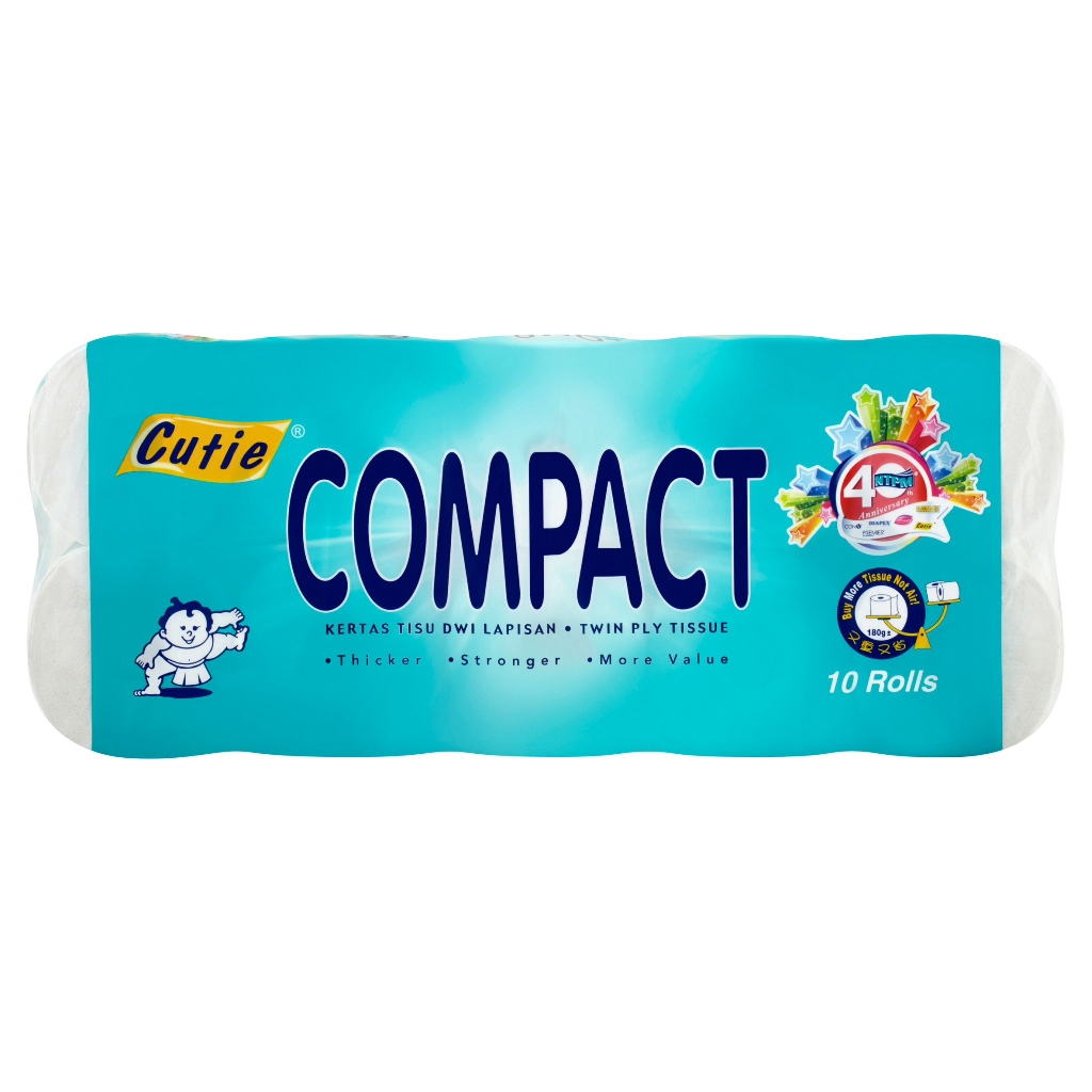 Cutie Compact Toilet Tissue (10rolls x 2ply)