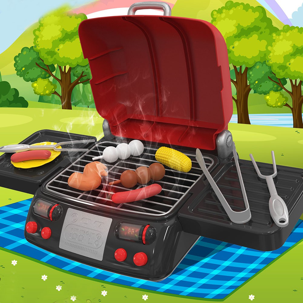 BBQ Grill Cooking Playset Toys Kids Kitchen Set for Children Indoor /& Outdoor Kids Pretend Barbecue Role Play Set Gift Dilwe Barbecue Grill Toy Set