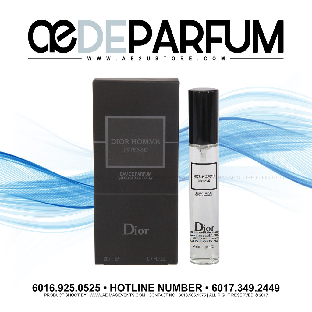 Perfume 20ml Dior Homme Intense Edp For Men Edp Shopee Malaysia