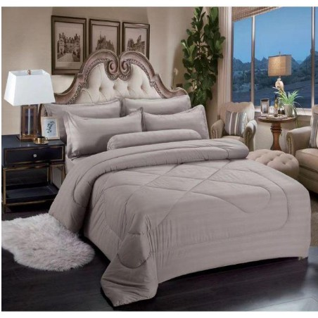 Hotel Cadar Queen with Comforter 7in1 100% Cotton [ Ready Stock ]   High Quality Fitted Bedsheet With Comforter Set