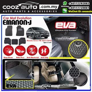 Honda Civic Fb 2013 2015 Emanon J Eva Customized Odor Free Car Floor