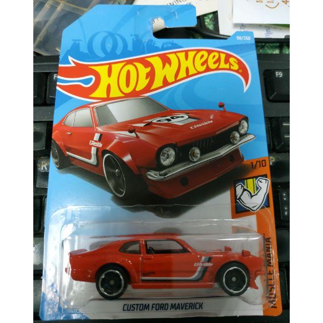 Custom Ford Maverick #98 Muscle Mania 2019 Hot Wheels Case D